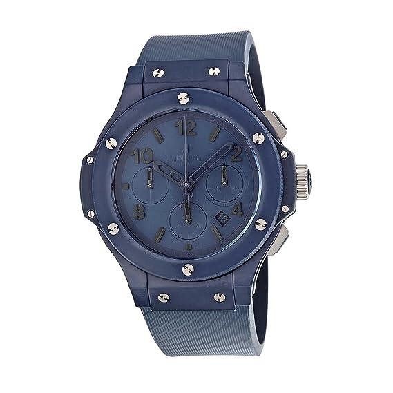 Hublot Big Bang azul cerámica en goma hombres del reloj de lujo 301-ei-