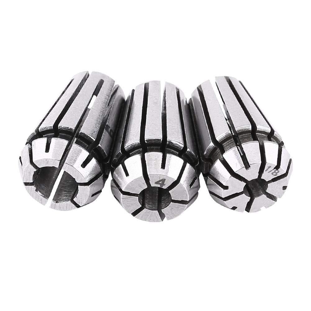 3.175 mm 4 mm 6 mm Spring Collet-3pcs ER11 Herramienta de soporte de torno de fresado de collar CNC 1//8 pulgadas