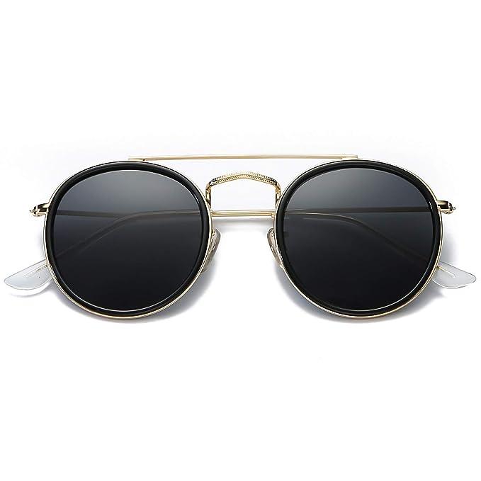 Amazon.com: DUSHINE - Gafas de sol polarizadas redondas para ...