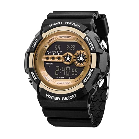 Wasserdicht Datum Led Digital Sport Quarz Analog Mens Military Armbanduhr Sport Elektronische Uhren Herrenuhren