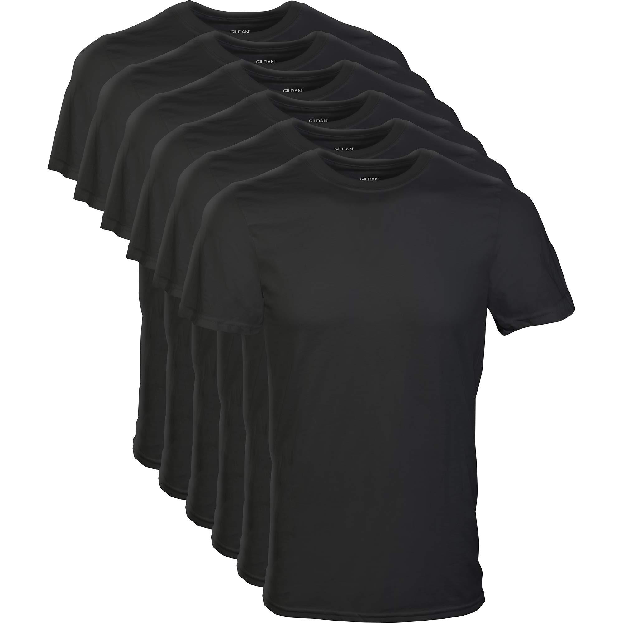 Gildan Men's Crew T-Shirt Multipack, Black, Large by Gildan