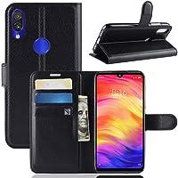 """Capa Capinha Carteira 360 Para Xiaomi Redmi Note 7 E Note 7 Pro Tela 6.3"""" Polegadas Case Couro Sintético Flip Wallet Para Cartão, Abre E Fecha - Danet (Preta)"""