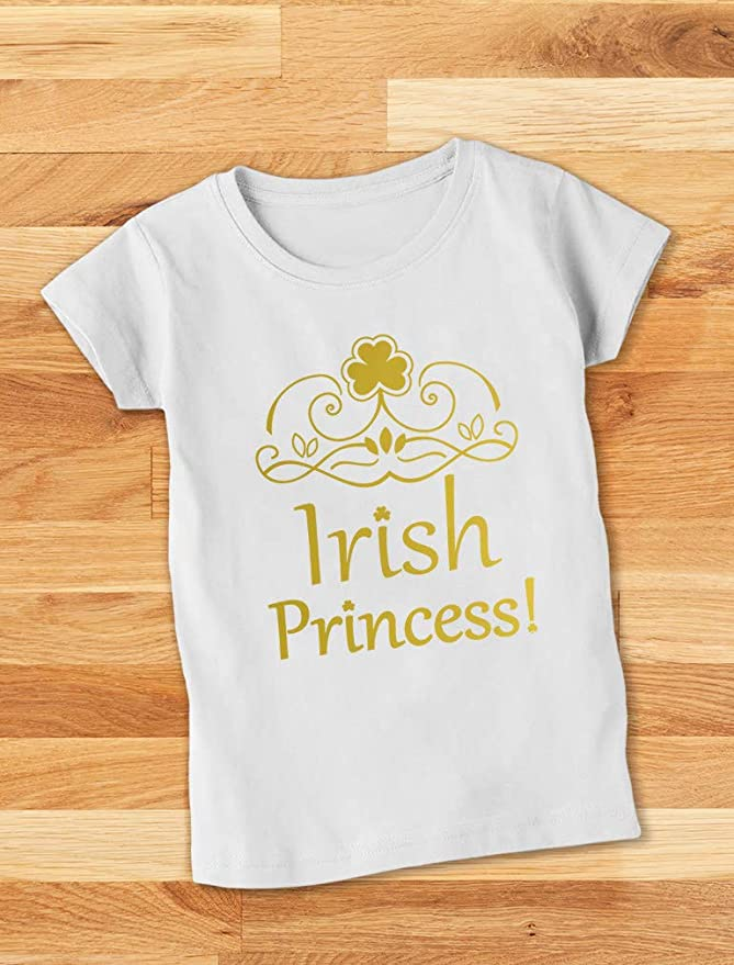 Inktastic Irish Princess St Patricks Girls Youth T-Shirt Paddys Kids Childs Cute
