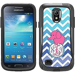 Monogram Otterbox Commuter Chevron Teal Blue Elephant Samsung Galaxy S4 Mini Case