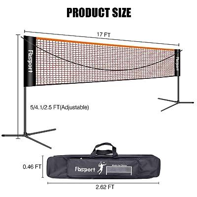 Volleyball Net Outdoor Set Beach Indoor Official Size Portable Badminton Sport