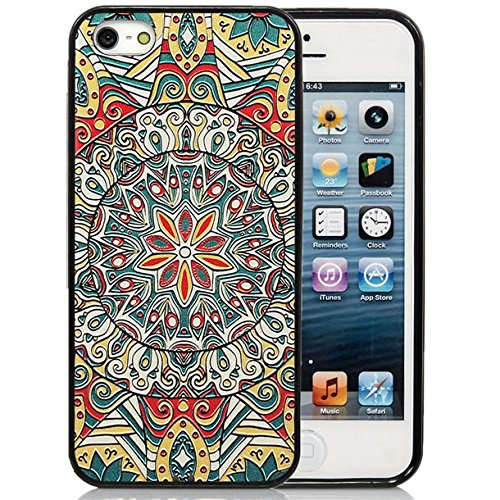 iPhone 5S Case,iPhone 5S Black Case, Dsigo TPU Full Cover Protective Case for New Apple iPhone 5S - Tribal totem -