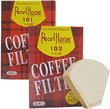 sin blanquear 40 papeles de filtro desechables para taza de caf/é en forma de cono