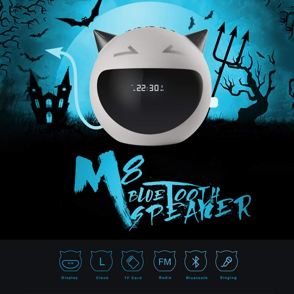 M8 Little Devil Heavy Bass Bluetooth Speaker Support Singing Lock Radio
