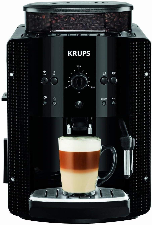 Krups EA810870 Roma - Cafetera Superautomática, 15 bares, molinillo de café cónico de metal, con selección de cantidad e intensidad de café, boquilla de vapor, 2 boq