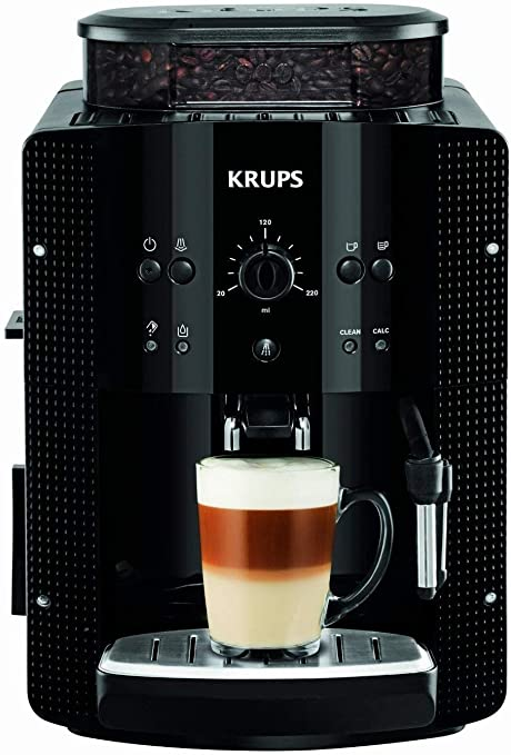 Krups EA8108 Roma - Cafetera Superautomática, 15 bares, molinillo de café cónico de metal, con selección de cantidad e intensidad de café, boquilla de vapor, 2 boquillas, incluye kit limpieza: Amazon.es: Hogar
