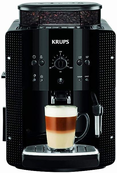 Krups Roma EA810870 - Cafetera Superautomática, 15 bares, molinillo de café cónico de metal, con selección de cantidad e intensidad de café, boquilla de vapor, 2 boquillas, incluye kit limpieza