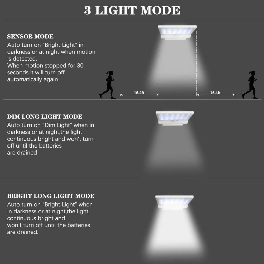 Detachable Solar Motion Sensor Lights Outdoor,30 LED Bulbs Home Security Lights with Motion Sensor,Flood Light Outdoor Solar Powered