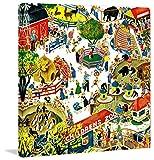 Marmont Hill Vintage-Kids 'Children's zoo' canvas Wall Art, 32'' X 32''