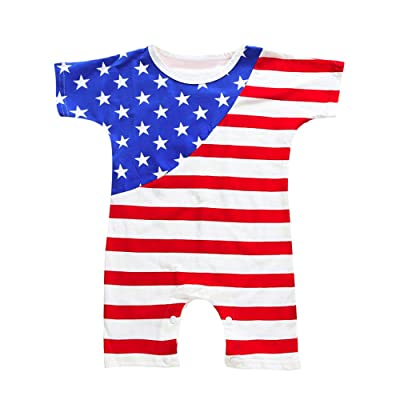 0-4 Years Old Unisex Baby,Yamally_9R Baby Boys Girls Fourth of July Stars Striped Rompers Jumpsuit Outfits