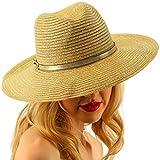 Summer Metallic Light Airy Crushable Fedora Panama Derby Beach Pool Sun Hat Gold