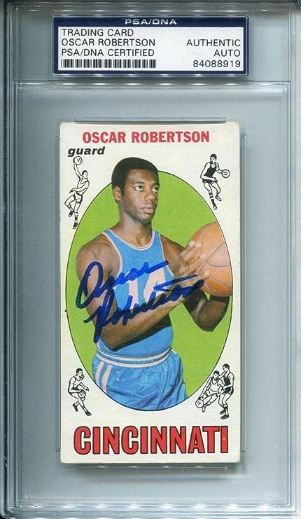 ada5d5ab9 Oscar Robertson Autographed 1969 Topps Card (PSA DNA) - Basketball  Autographed Cards
