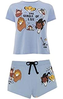 Primark Ladies Girls Womens Disney Lion King Simba Circle of Life Pyjama Top Shorts