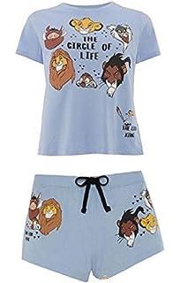 Primark Ladies Girls Womens Disney Lion King Simba Circle of Life Pyjama Top Shorts