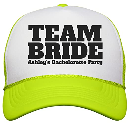cd9804974d0dd Team Bride Bachelorette  One Size White Neon Yellow OTTO Poly-Foam Neon  Snapback. Roll over image to zoom in. Bridal Party Tees
