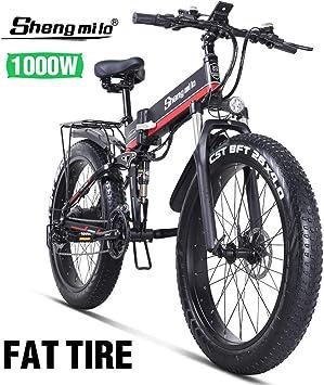 Shengmilo-mx01 26 Pulgadas Bicicleta Eléctrica para Nieve, 1000w ...