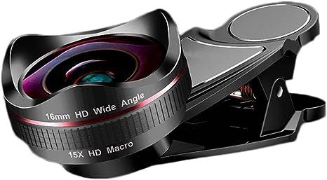 Kit de Lente de cámara 16 mm HD Gran Angular + 15 Macro, Lente de ...