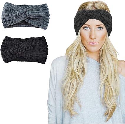 Women Headband Wool Knit Hairband Knotted Bow Warm Head Wrap Autumn Winter New