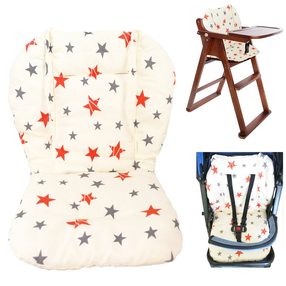 Twoworld Baby Stroller/Car/High Chair Seat Cushion Liner Mat Pad Cover Protector Breathable(Star)