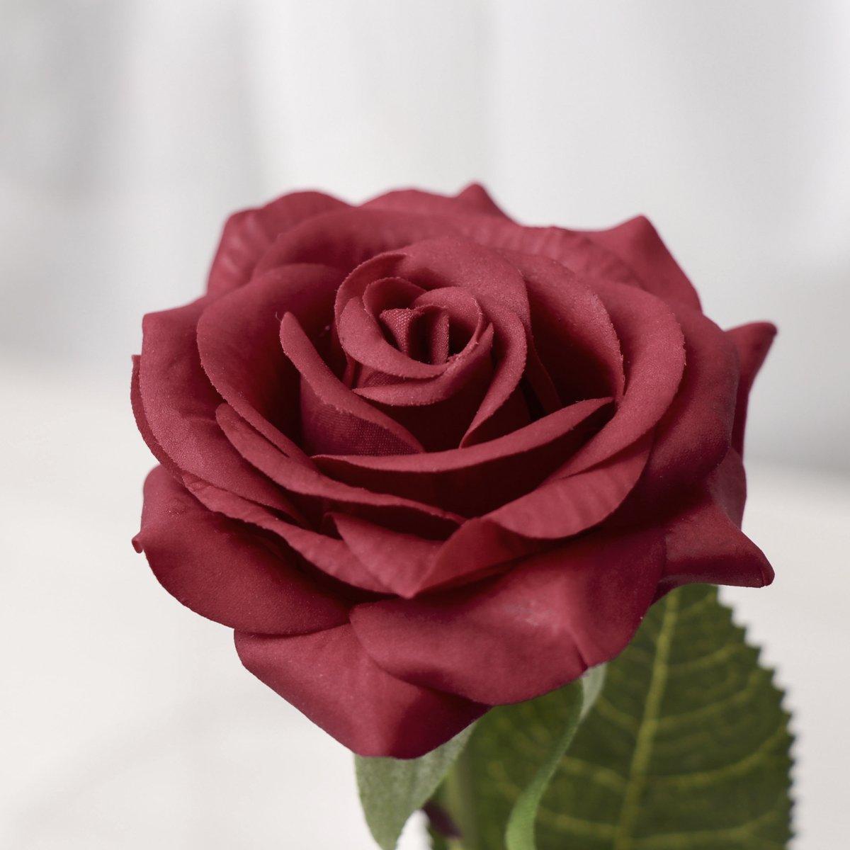 ad3479bdaf ... Lámpara de de de Mesa LED Rosa de Seda Roja y Luz con Pétalos Caídos en  ...