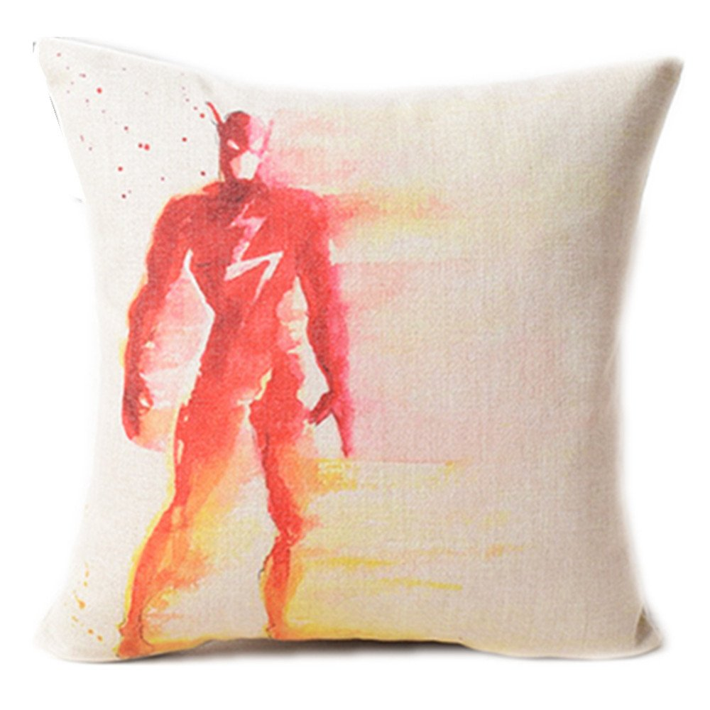 Fyon Superhero 4-Pack Cushion Covers Decorative Throw Pillow Cases for Sofa,Home,car 18x18inch -C