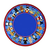 Joy Carpets Kid Essentials Early Childhood Round Children of Many Cultures Rug, Multicolored, 7'7''