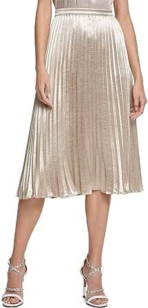 DKNY Falda Midi Plisada para Mujer