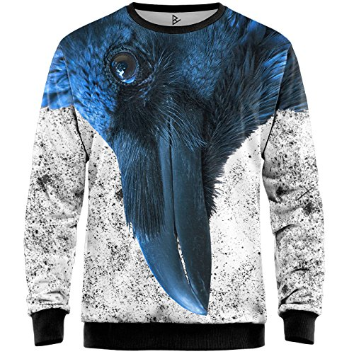 blowhammer  Blowhammer - Felpa Uomo - Blue Crow Swt: : Abbigliamento