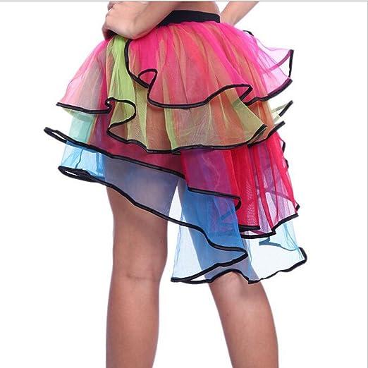 Pixnor - Falda de tul para mujer, color granate, 4 capas: Amazon ...