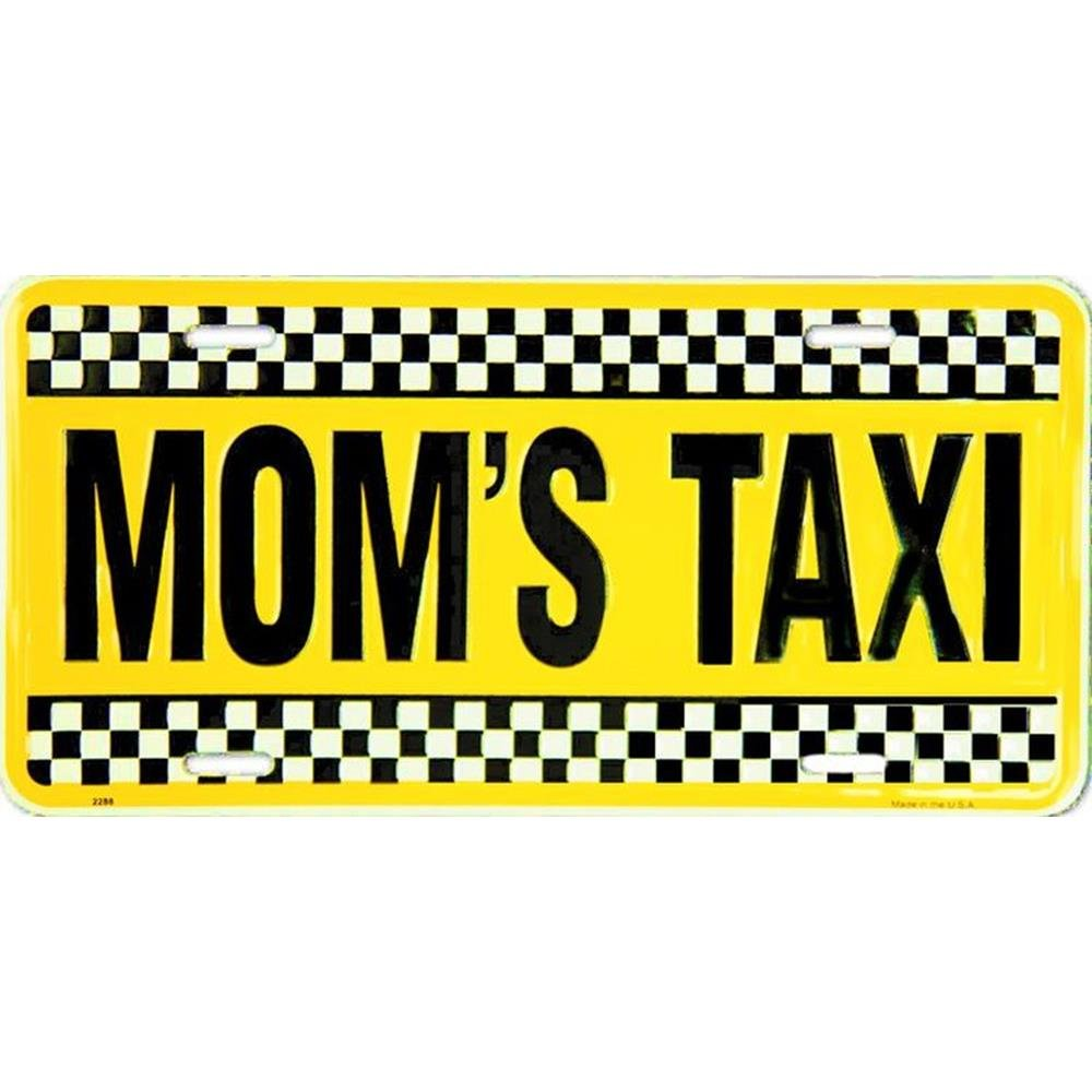 License Plate Signs 4 Fun Slmt Moms Taxi