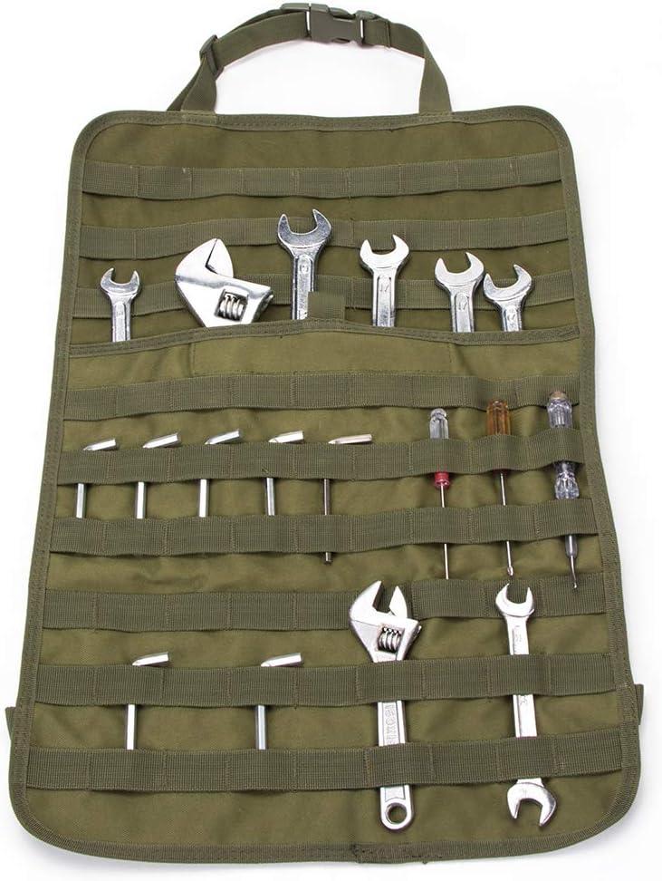 sac de rangement pour outils avec plusieurs poches et sangles /élastiques vert Rouleau /à outils pratique