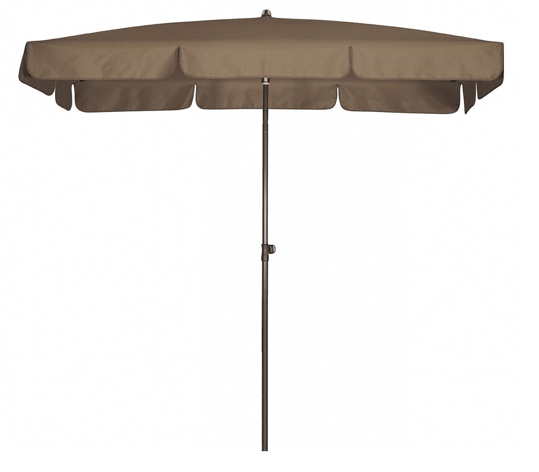 Absolut wasserdichter Gartenschirm Waterproof 260x150 von Doppler mit UV-Schutz 80, Farbe taupe greige