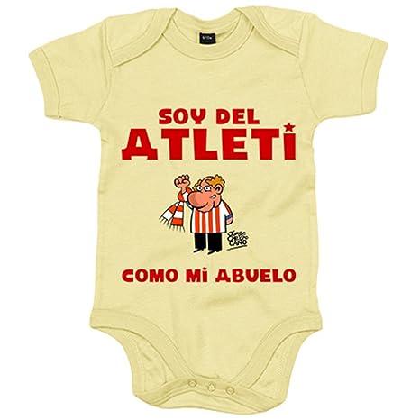 Body bebé Atlético de Madrid soy del atleti como mi abuelo - Amarillo, 6-