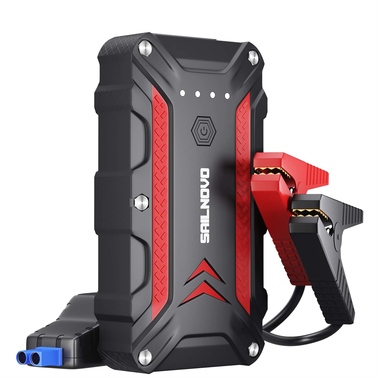 Adakiit 1200A Portable Car Battery Jump Starter, Waterproof Jump Start Battery Pack (up To 7.5L Gas, 6.0L Diesel Engine) 12V Lithium Auto Battery Booster Power Pack For Cars Truck SUV