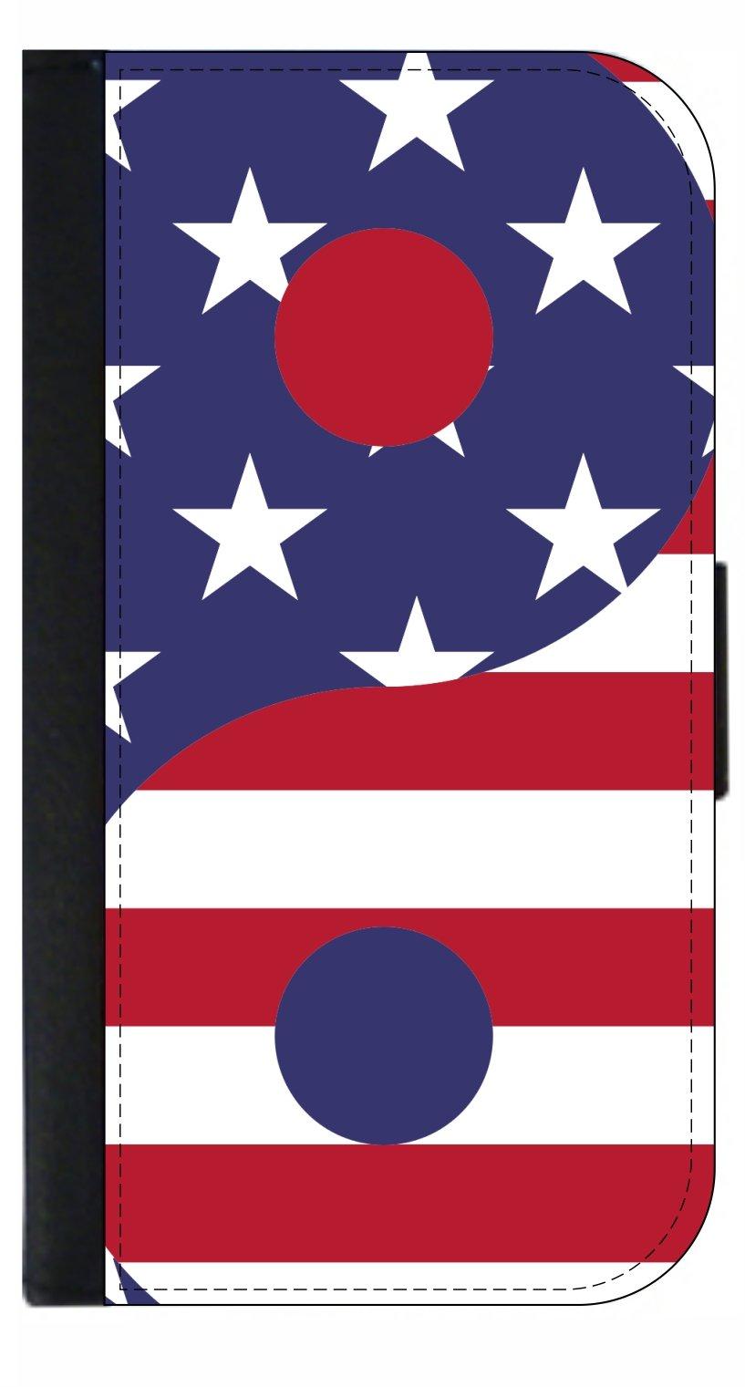 Yin Yang American Flag Design Passport Cover / Card Holder for Travel