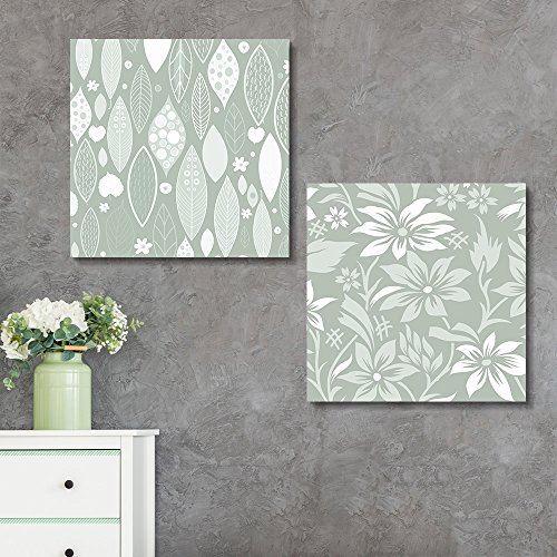 2 Panel Square Floral Patterns x 2 Panels