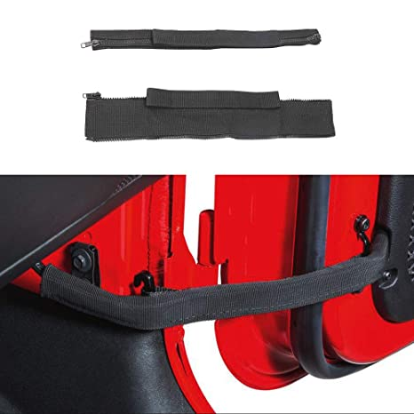 micephon jeep wrangler door check straps with wire harness protection for jk 4 doors, 2 pack Jeep TJ Wiring Harness
