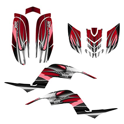 red Motorcycle & ATV Decals Yamaha Raptor 660 Graphics Decal