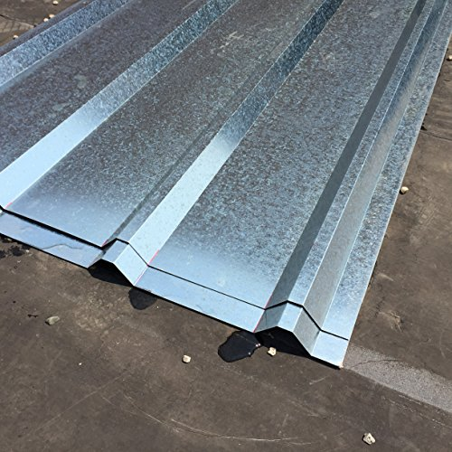 - FixtureDisplays Unit of 10 Sheets of Corrugated Metal Roof Sheets Galvanized Metal 11525-10PC