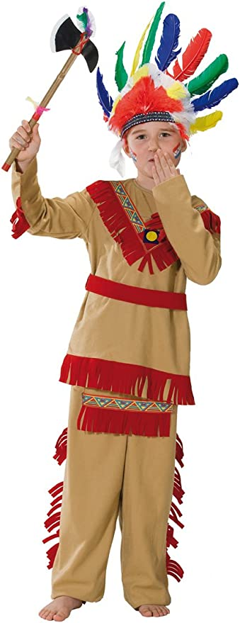 Rubies 1 2390 140 - Disfraz de indio para niño (talla 140): Amazon ...