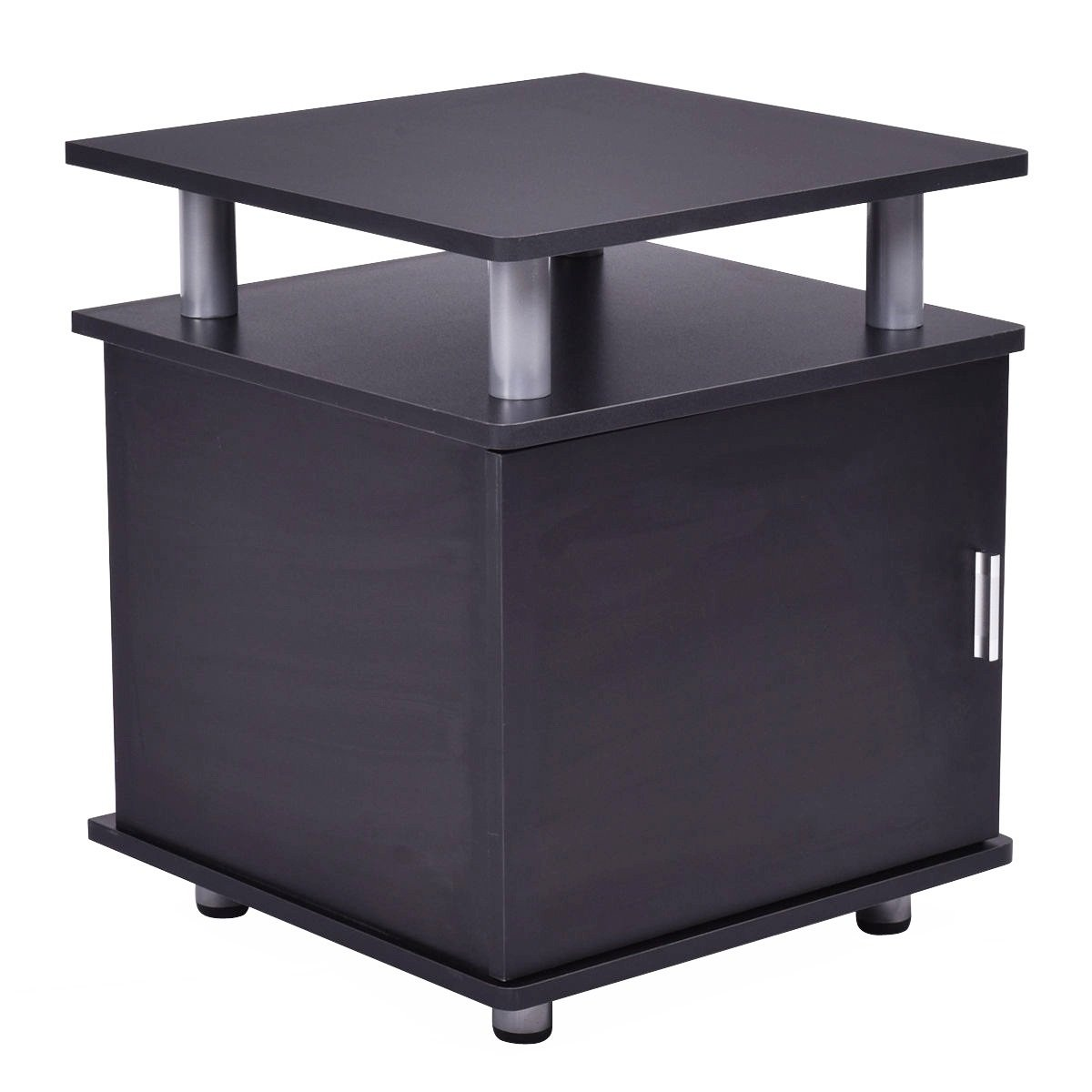 Large Storage Couch Side Cabinet End Table for Living Room
