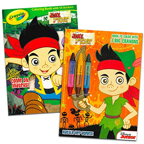 Disney® Jake and the Neverland Pirates Coloring and Activity Book Set - (2 Books ~ 96 pgs each)]()