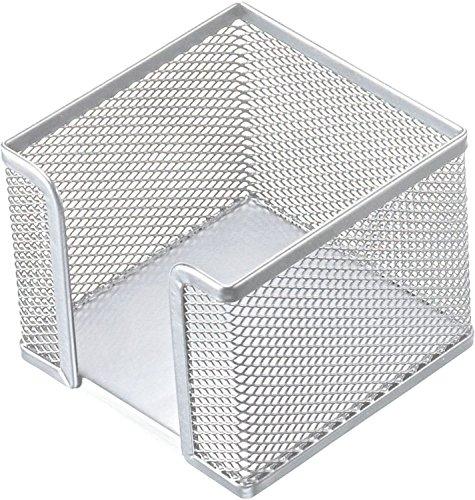 Helit H2518400 - Zettelbox Mesh, 10 x 10 x 8 cm, silber