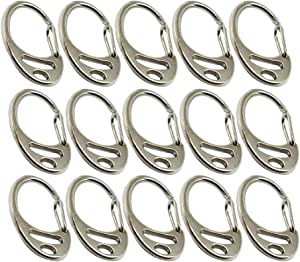 """5Pcs Heavy Duty 2/"""" 50mm Spring Gate Snap Hook for D Ring Carabiner Silver"""