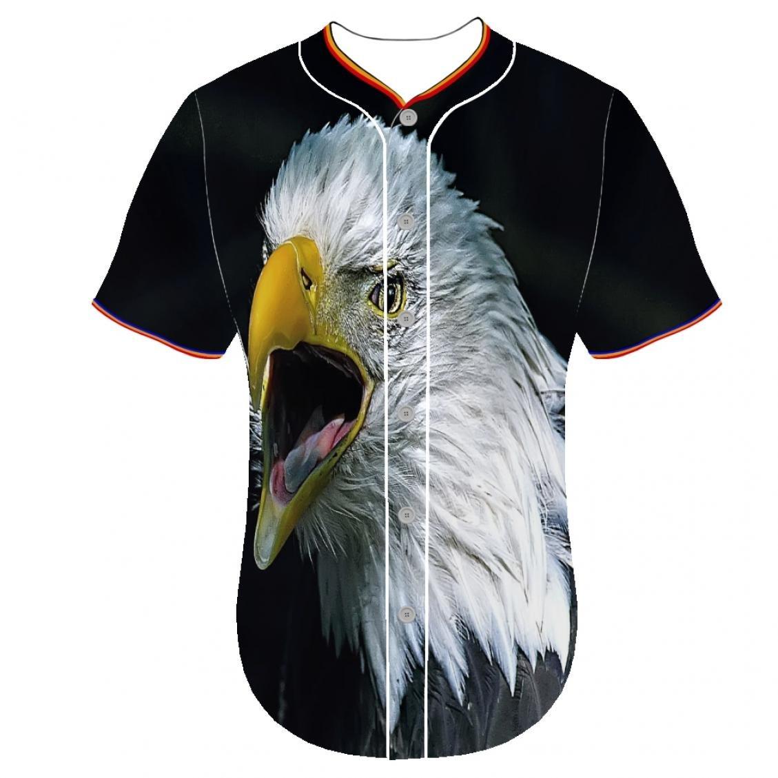 Cuello redondo 3d impresora personalizado béisbol camisetas ...
