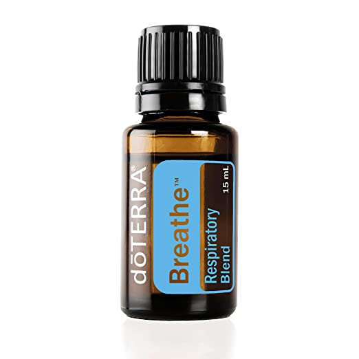 doTERRA - Breathe Essential Oil Respiratory Blend - Promotes Restful Sleep, Feelings of Clear Airways and Easy Breathing, Helps Minimize Seasonal Threat Effects; for Diffusion or Topical Use - 15 mL